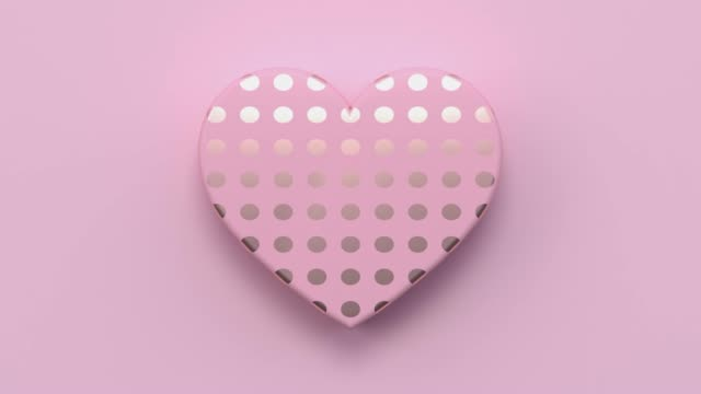 pink flat lay scene metallic gold shape minimal abstract motion 3d rendering gift box heart shape holiday love valentine concept - valentine's day stock videos & royalty-free footage