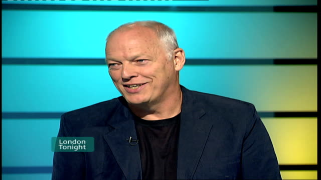 Pink Floyd Royal Albert Hall concert DVD released ENGLAND London GIR INT Dave Gilmour LIVE STUDIO interview SOT On concert feeling perfect / On Royal...