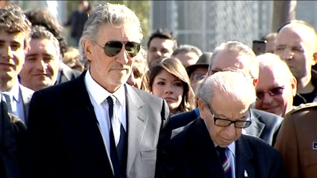 pink floyd singer roger waters unveils memorial to father who died in second world war italy aprilia ext various of roger waters standing with harry... - pink singer stock videos and b-roll footage