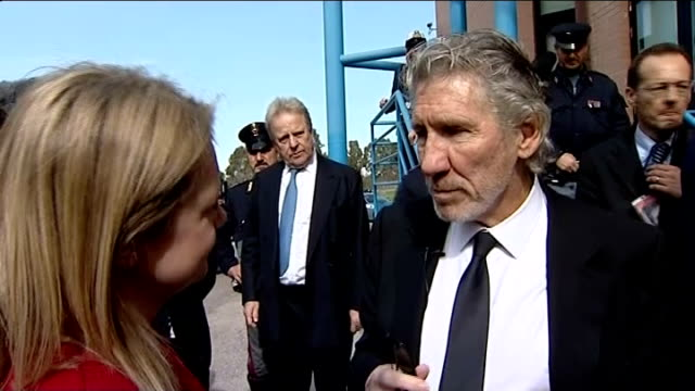 pink floyd singer roger waters unveils memorial to father who died in second world war roger waters interview sot - pink singer stock videos and b-roll footage