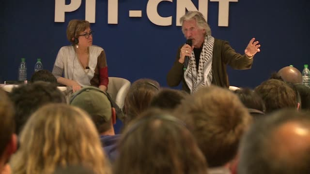 pink floyd singer songwriter and activist roger waters discusses palestine and human rights issues during a visit to the uruguayan capital whilst he... - pink singer stock videos and b-roll footage
