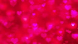 Pink Flying Hearts Abstract Valentines Day Background - 4K