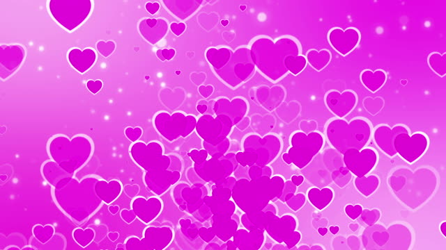 pink flying hearts (loopable) - fashion collection stock videos & royalty-free footage
