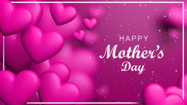 pink happy mother's day loopable hearts - mother's day stock videos & royalty-free footage