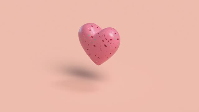 pink heart shape abstract motion 3d render - shape stock videos & royalty-free footage