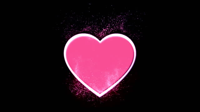 pink heart with particles _4k loop animation - eternity stock videos and b-roll footage
