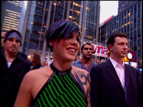 pink is attending the2002 mtv video music awards red carpet. - 2002 stock videos & royalty-free footage