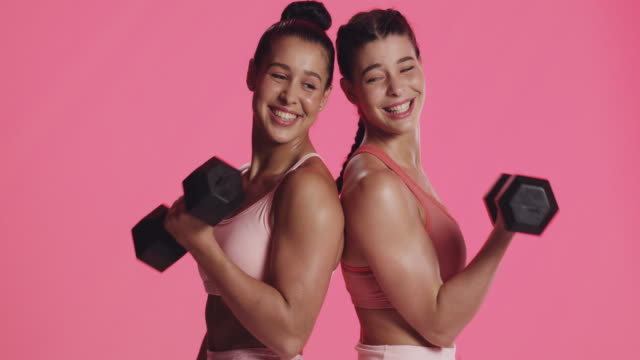 pink is powerful - body building stock videos & royalty-free footage