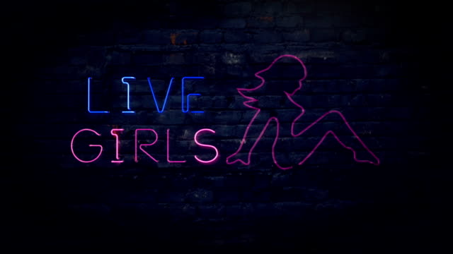 pink live girls flashing neon sign - x rated stock videos and b-roll footage