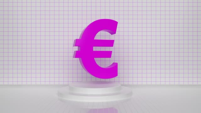 pink loopable turning euro symbol concept - british pound sterling note stock videos & royalty-free footage