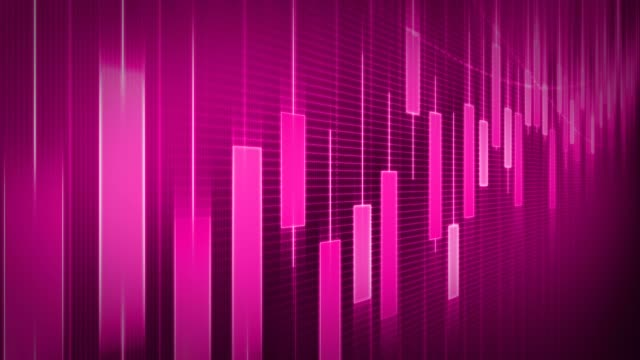 pink looping financial charts und diagramme - diagramm stock-videos und b-roll-filmmaterial