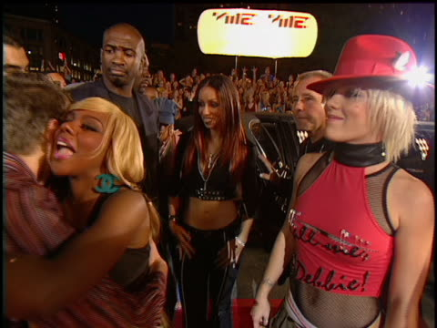 Pink Mya Christina Aguilera and Lil' Kim arriving at Lincoln Center for the 2001 MTV Video Music Awards