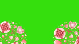 Pink Objects Rounds Patterns with Glitter Looping Animation
