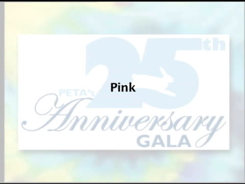 pink on congratulating peta for 25 years at the peta's 25th anniversary gala and humanitarian awards show at paramount studios in hollywood... - paramount studios stock videos and b-roll footage