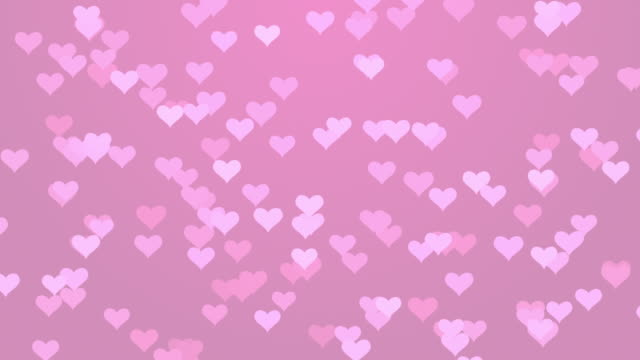 pink particle flying hearts valentine's day abstract background 4k video stock - baby shower video stock e b–roll