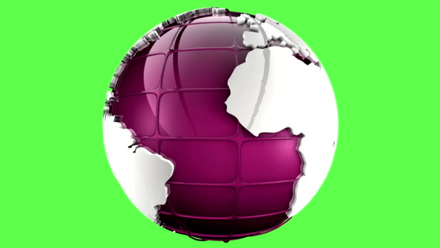 vídeos de stock e filmes b-roll de rosa planeta terra globo verde de mate - vingança