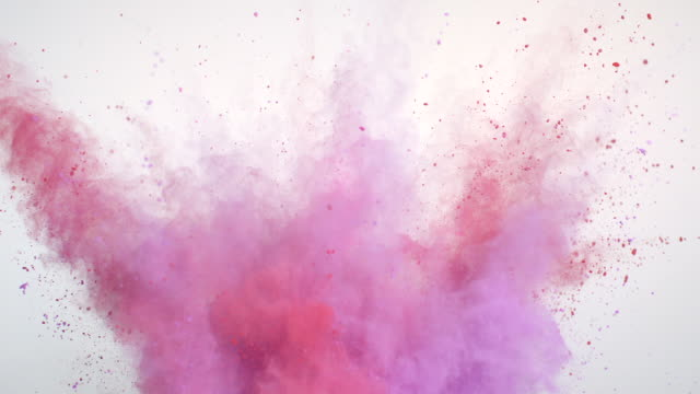 pink powder explosion - colour image stock-videos und b-roll-filmmaterial