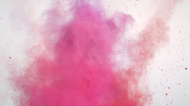 pink powder explosion - colori video stock e b–roll