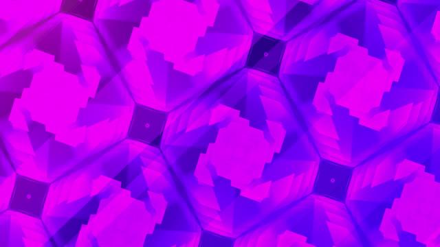 rosa lila gitter mosaik hintergrund - geometrische form stock-videos und b-roll-filmmaterial