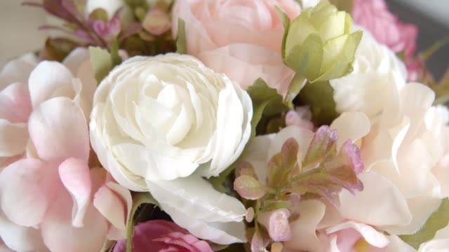 pink roses color pastel in a jar on a table at home.love concept - vase stock videos & royalty-free footage