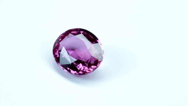 pink sapphire - stone object stock videos and b-roll footage