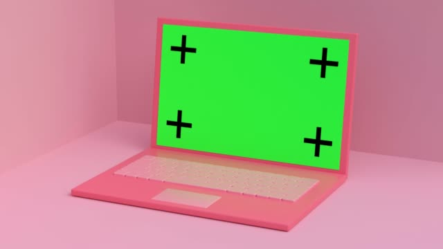 pink scene computer/levitation green screen 3d rendering - still life stock videos & royalty-free footage