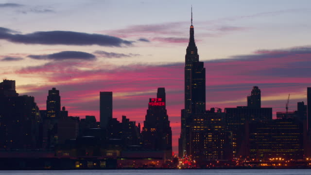 - Pink Sky Over The New Yorker Building