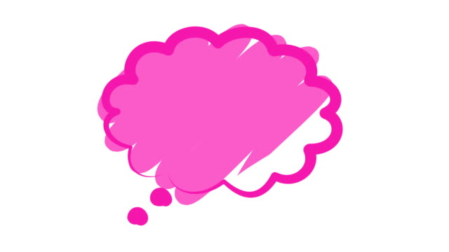pink speech or chat bubble - speech bubble stock videos & royalty-free footage