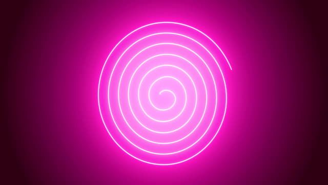 4k pink spiral animation - spirale ricciolo video stock e b–roll
