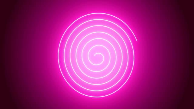 4k rosa spirale animation - spiralmuster stock-videos und b-roll-filmmaterial