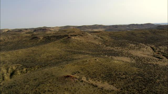 Rosa Kissen Hills-Luftaufnahme-Wyoming, Johnson County, Vereinigte Staaten