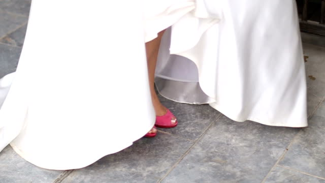pink wedding shoes - groom stock videos and b-roll footage