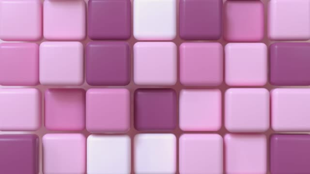rosa weiß quadratische form abstrakte 3d rendering bewegung hintergrund - gruppe von gegenständen stock-videos und b-roll-filmmaterial