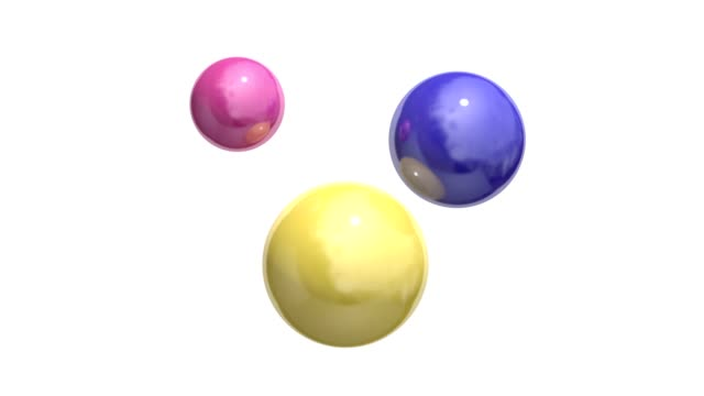 pink yellow blue sphere spinning white background motion 3d rendering - digital animation stock videos & royalty-free footage