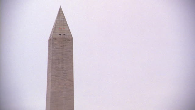selective focus pinnacle of the washington monument / washington, d.c., united states - president stock videos and b-roll footage