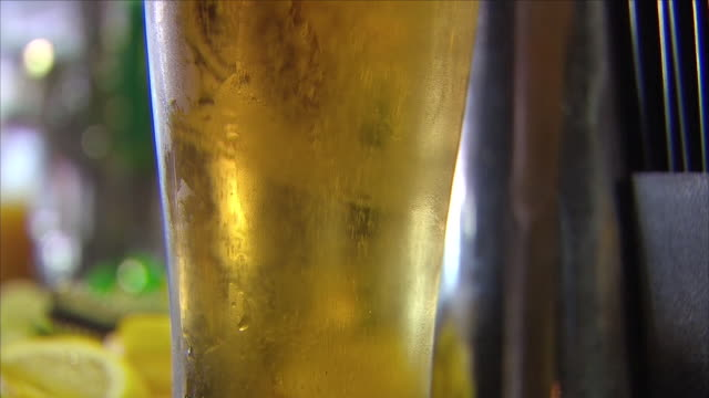 pint of beer - empty beer glass stock videos and b-roll footage