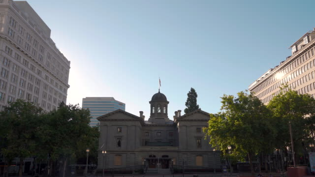 pioneer courthouse in downtown portland, or - portland oregon stock videos & royalty-free footage