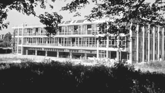 1948 ws pioneer health centre in peckham / london, england - peckham health centre stock videos & royalty-free footage