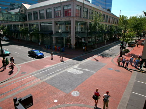 pioneer place, portland, time lapse - artbeats stock videos & royalty-free footage