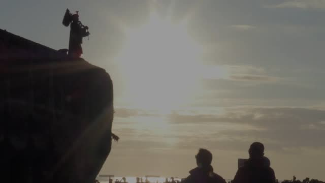 pipe major trevor maceylillie of the 19th regiment of the royal artillery plays highland laddie on gold beach in arromanches normandy to mark the... - d day stock videos and b-roll footage