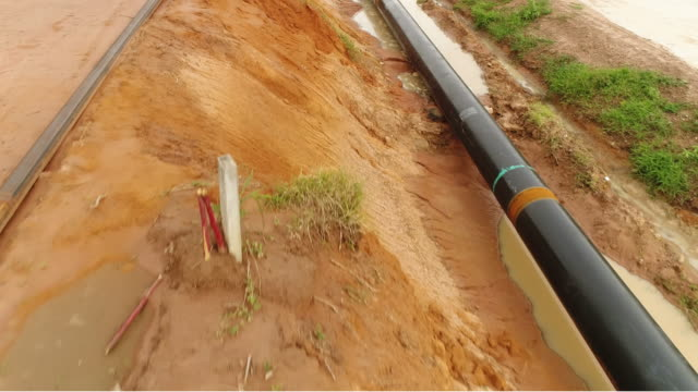pipeline aerial - pipeline stock videos & royalty-free footage