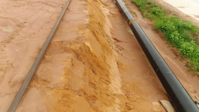 pipeline aerial - gas pipe stock videos and b-roll footage
