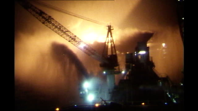 piper alpha oil rig on fire - alpha cell stock videos & royalty-free footage