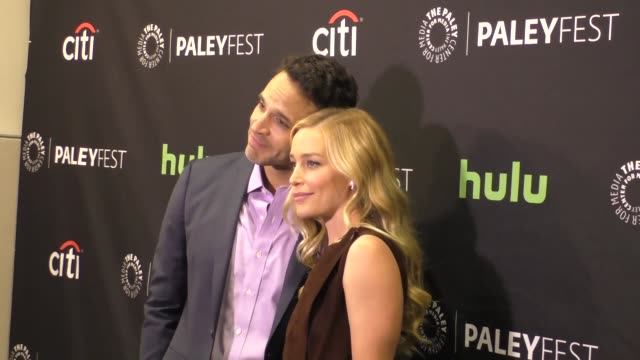 piper perabo and daniel sunjata at the paley center for media's paleyfest 2016 fall tv preview - abc at celebrity sightings in los angeles on... - paley center for media los angeles stock videos & royalty-free footage