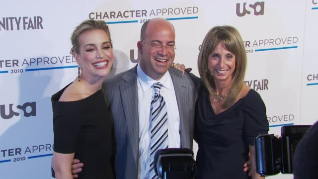 Piper Perabo Jeff Zucker and Bonnie Hammer at the 2nd Annual Character Approved Awards Cocktail Reception at New York NY