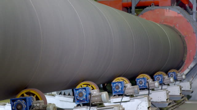 pipe-rolling plant. tube rolling plant for production of large pipes. - metallurgy stock videos & royalty-free footage