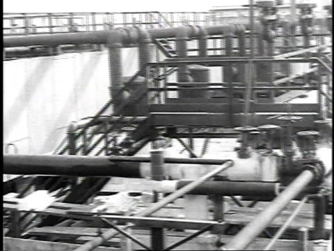 1923 ms pipes and valves at oil refinery / united states - 1923 stock videos & royalty-free footage