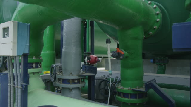 zi pipes, valves and indicators in water treatment plant - 2k resolution stock videos and b-roll footage