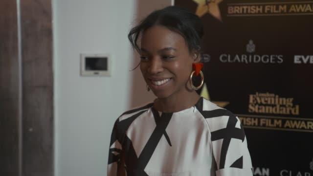 pippa bennet warner at evening standard british film awards at claridge's hotel on february 8, 2018 in london, england. - 映画賞点の映像素材/bロール