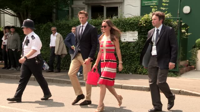 Pippa Middleton at Wimbledon 2013 Video Sightings on July 05 2013 in London England